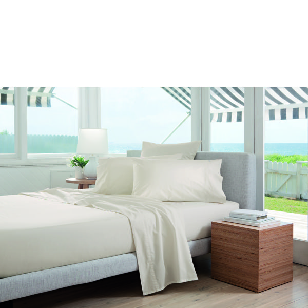 Sheridan Percale 300tc Standard Pair Pillowcases Chalk