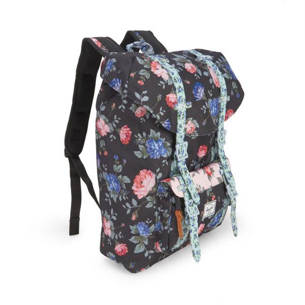 Herschel Supply Co. Little America Mid-Volume Backpack - Black Floral   Image 2 abd78206cf7c9