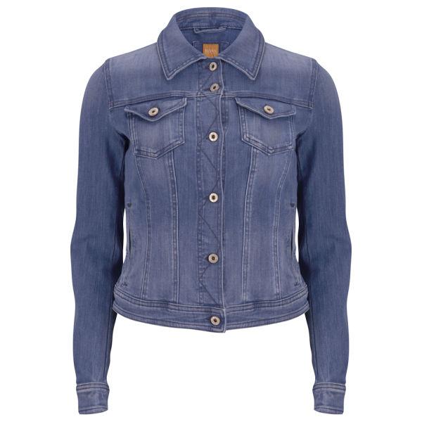 BOSS Orange Women's Lynna Denim Jacket - Medium Blue