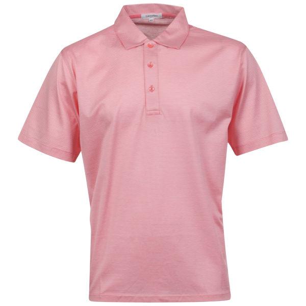 Calvin Klein Men 39 S 3 Button Golf Polo Pink White Free