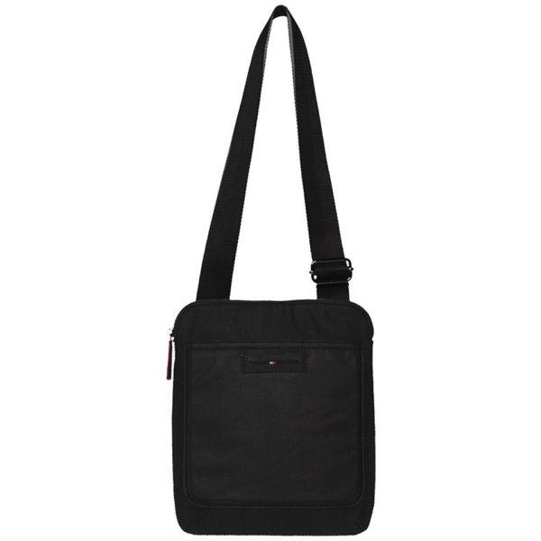 Tommy Hilfiger Men s George Canvas Flat Bag - Black Grey Clothing ... fa203736ca