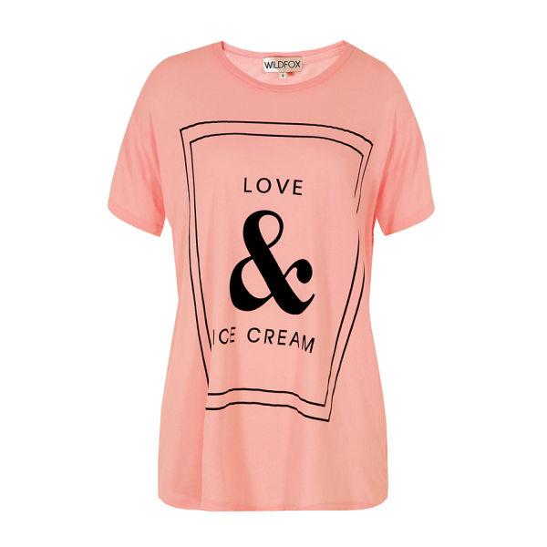 Wildfox Women's Love T-Shirt - Teen Dream Pink