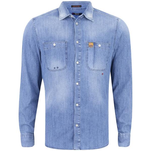 ef32d6ee93e FC Barcelona by REPLAY Men s Shirt - Blue Mens Clothing