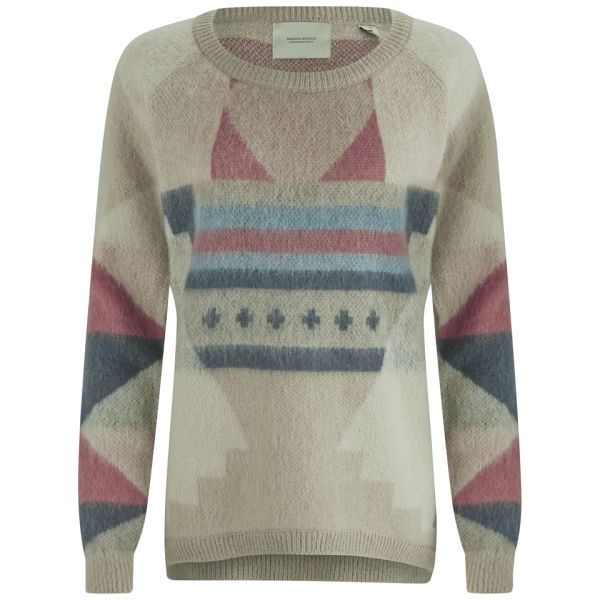 Maison Scotch Women's Aztec Knit Jumper - Cream Multi