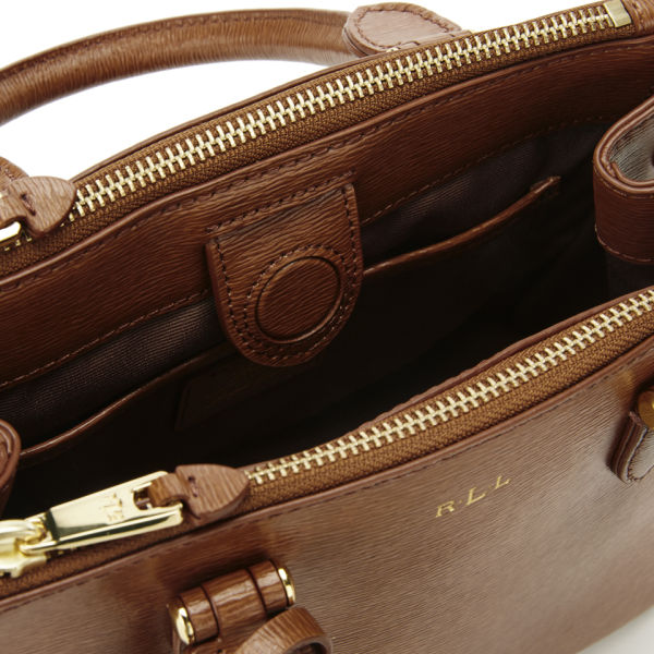 ca17453c66eb Lauren Ralph Lauren Women s Newbury Mini Double Zip Satchel - Tan  Image 4