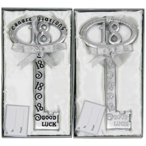 Silver 18th Birthday Key