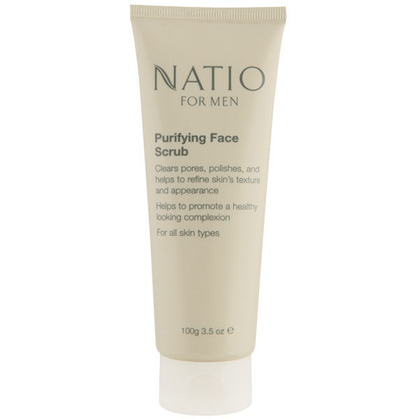 Exfoliante facial purificante para hombres de Natio (100 g)