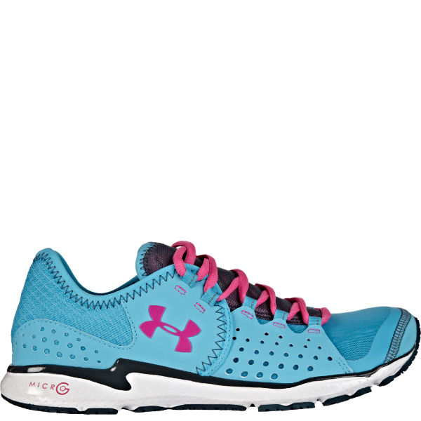 Under Armour Women s Micro G Mantis Running Shoes - Pirate Blue Pink Adelic  c89faa122e
