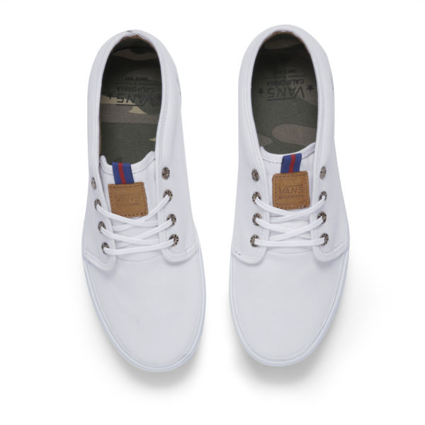Vans Men s California 106 Vulcanized Brushed Twill Trainers - True White   Image 2 f9d79576cf9a