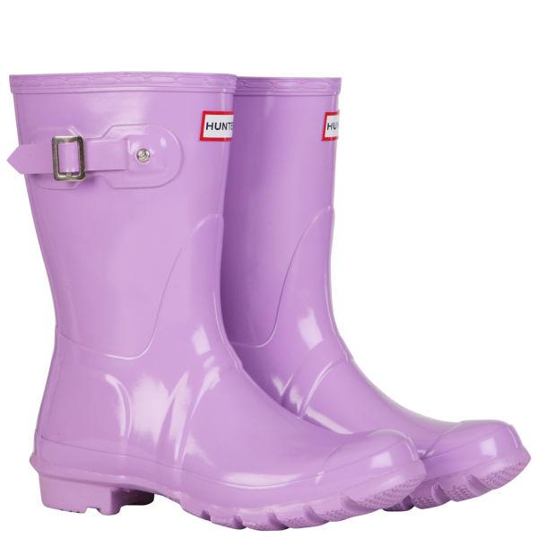 Hunter Women's Original Short Gloss Wellington Boots - Wisteria