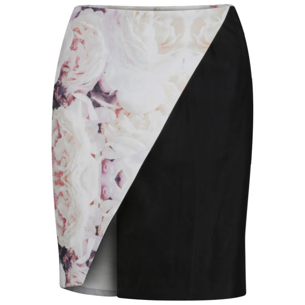 Finders Keepers Women's Around The World Skirt - Rose Print/Black