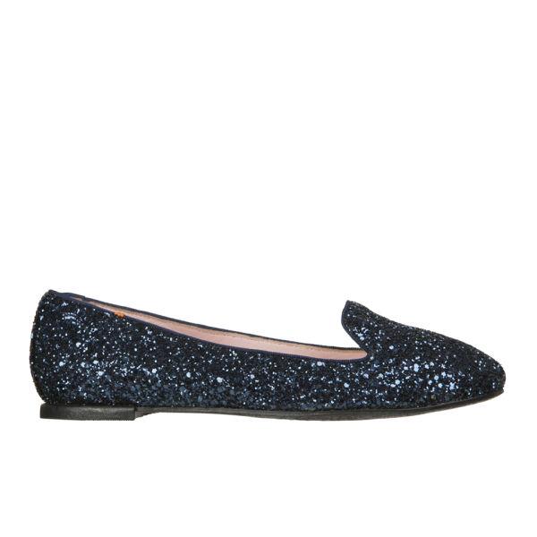 Just Ballerinas Women's Glitter Slippers - Navy