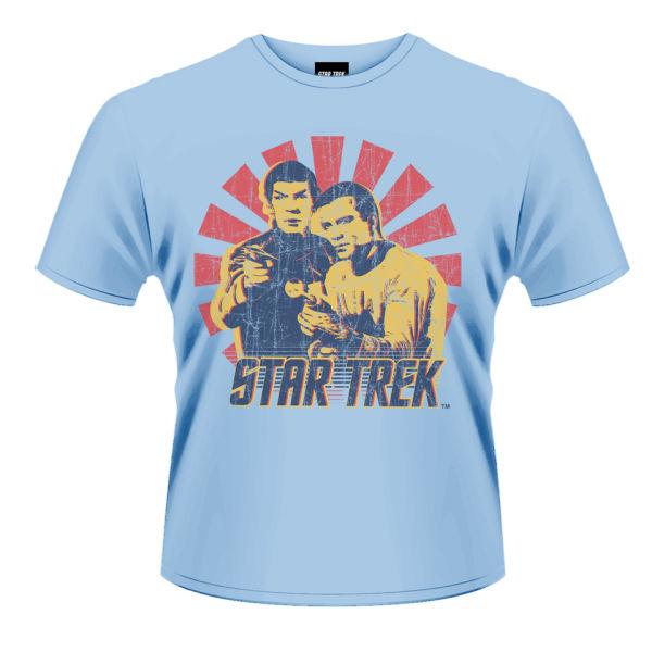 star trek men 39 s t shirt kirk and spock merchandise. Black Bedroom Furniture Sets. Home Design Ideas