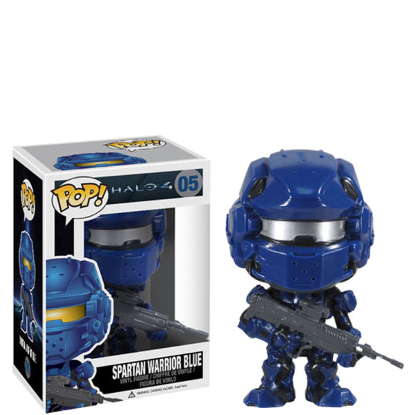 Halo 4 Blue Spartan Pop Vinyl Figure Merchandise Zavvi