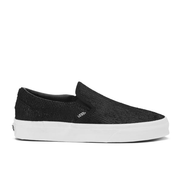 Vans Women's Classic Slip-On Pebble Snake Trainers - Black