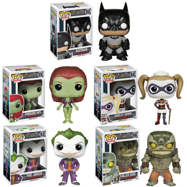 DC Comics Arkham Asylum Pop! Vinyl Figure Bundle