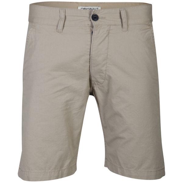 jack jones men 39 s akon chino shorts twill beige mens. Black Bedroom Furniture Sets. Home Design Ideas