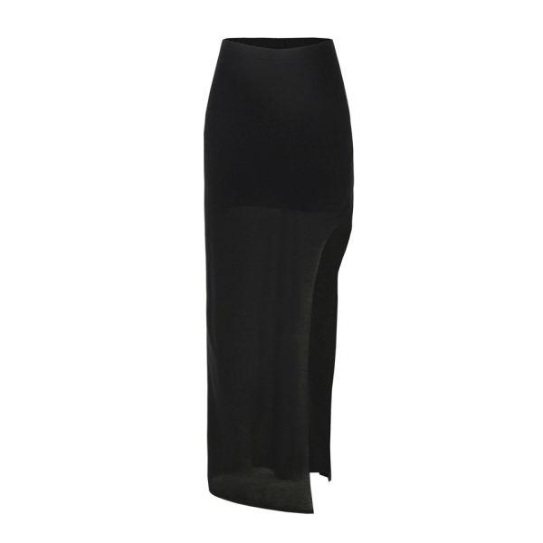 Helmut Lang Women's Kinetic Jersey Maxi Skirt - Black