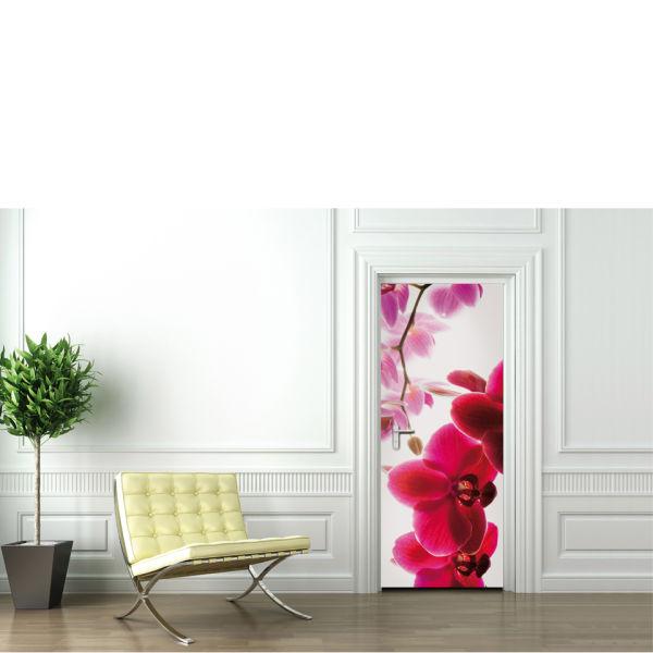 Orchid Flower Door Mural