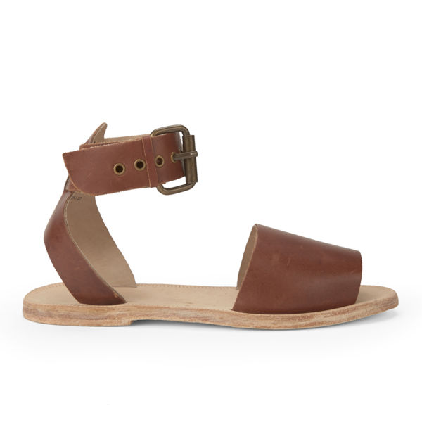 H Shoes By Hudson Womens Soller Leather Sandals Tan