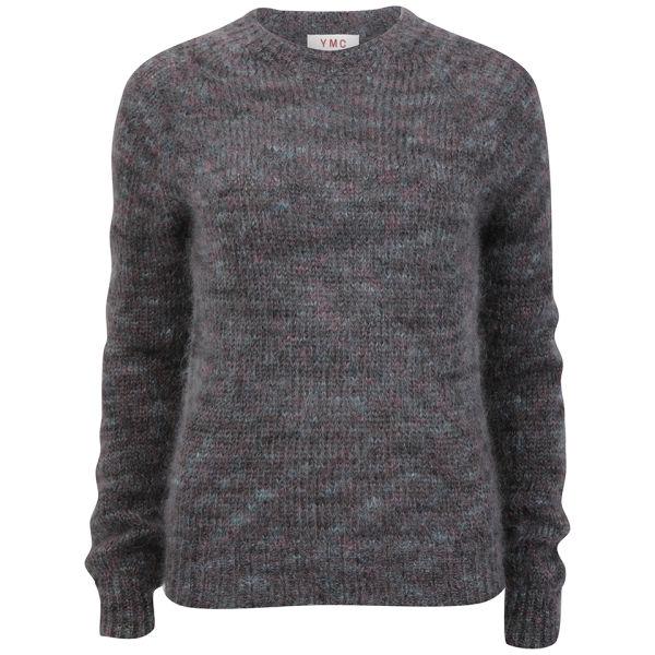 YMC Women's Mohair Knitted Jumper - Grey