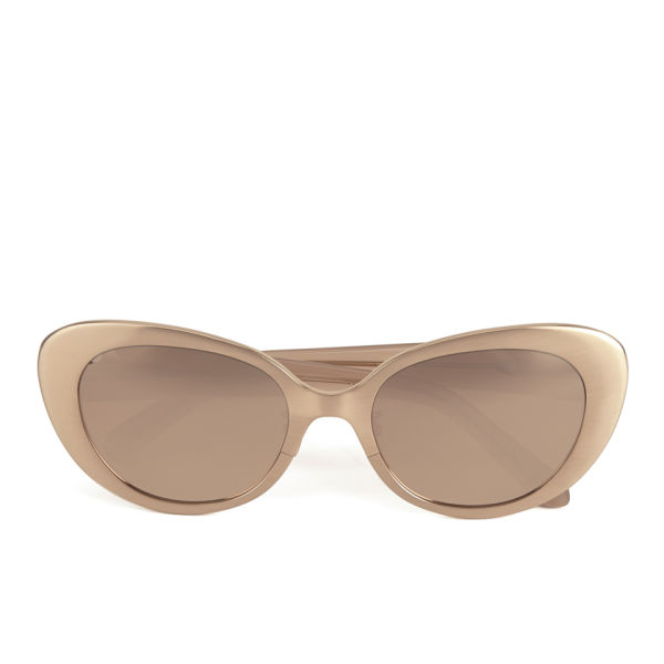 Linda Farrow Cats Eye Sunglasses - Brushed Rose Gold