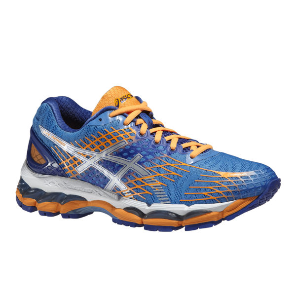 Asics Women's Gel Nimbus 17 Cushioning Running Shoes - Powder Blue/Silver/ Nectarine: