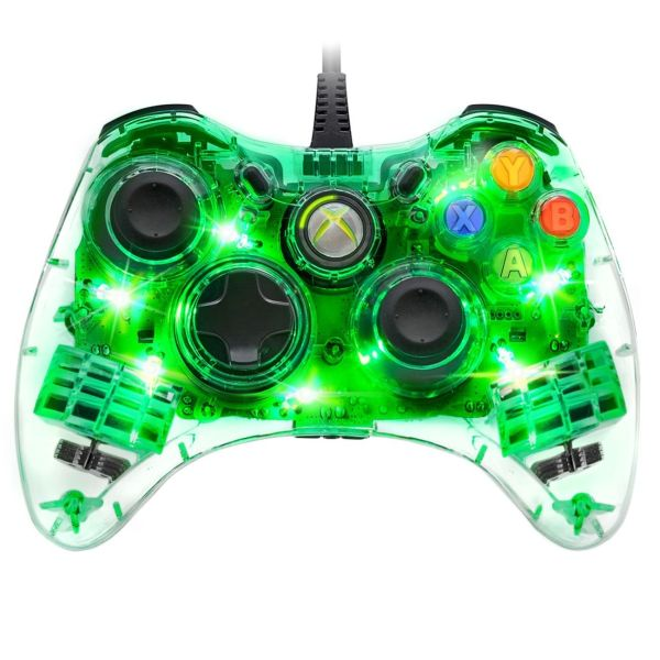 afterglow wired xbox 360 controller green iwoot. Black Bedroom Furniture Sets. Home Design Ideas