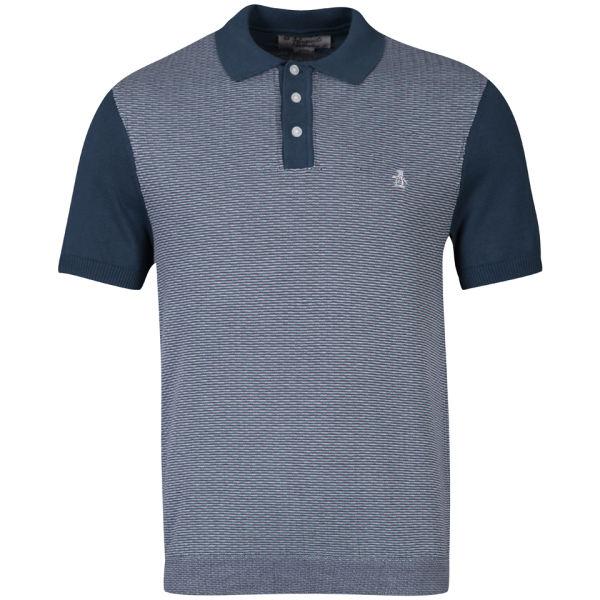 Original Penguin Men 39 S Button Polo Shirt Navy Clothing