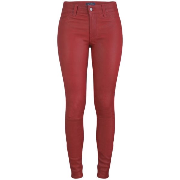 April, May Women's SKYE Skyler Leather Trousers - Cherry