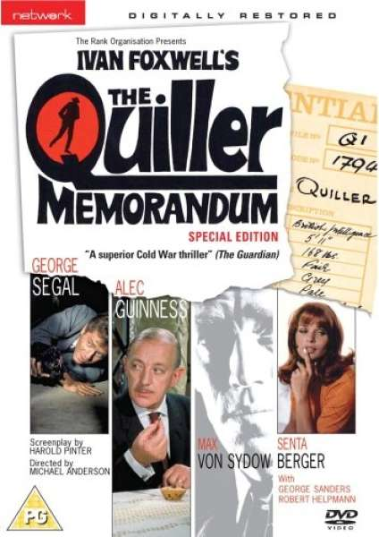 The Quiller Memorandum Dvd Zavvi