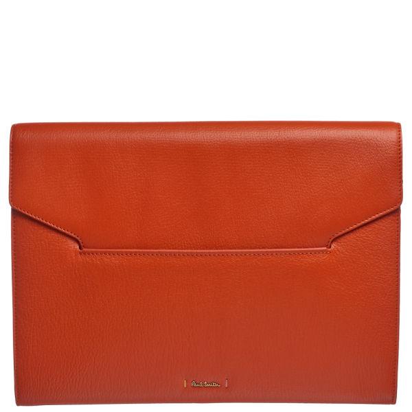 Paul Smith Accessories Women's Large Leather Clutch Bag - Orange