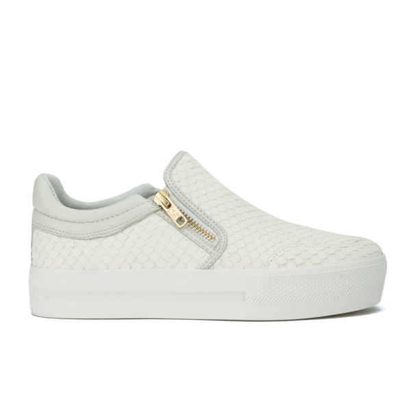 Ash Women's Jordy Leather Flatform Skater Trainers - Off White