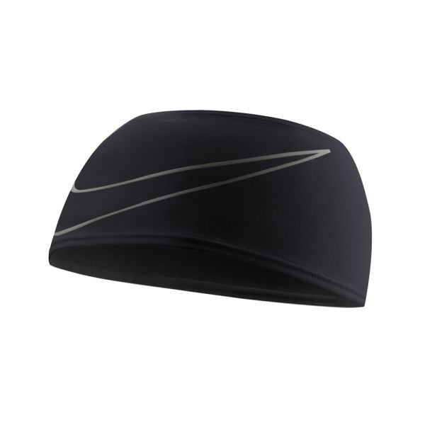 Nike Running Doublewide Headband 3.0 - Black Silver Sports   Leisure 75dbb722b2d