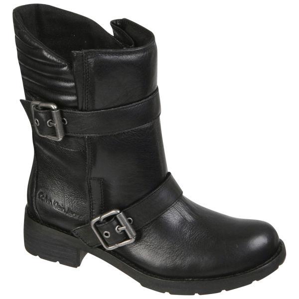 CK Jeans Women's Hachi Biker Boots - Black