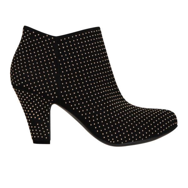 BCBGeneration Women's Daphnee Velvet Studded Boots - Black