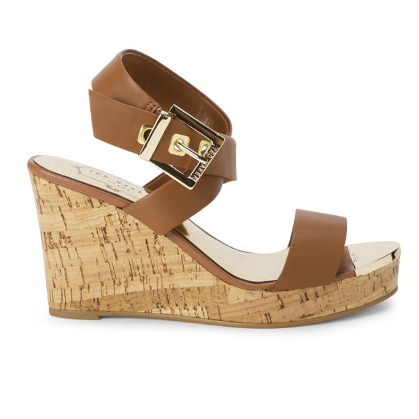 Ted Baker Women's Oliviaa Leather Wedges - Tan Leather