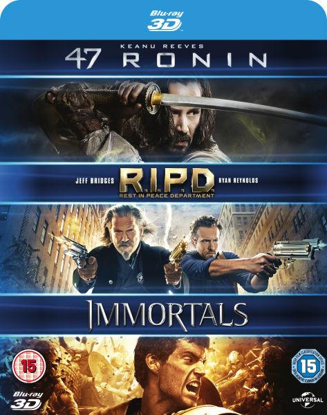 47 Ronin 3D + R.I.P.D. Brigade Fantôme 3D + Les Immortels 3D