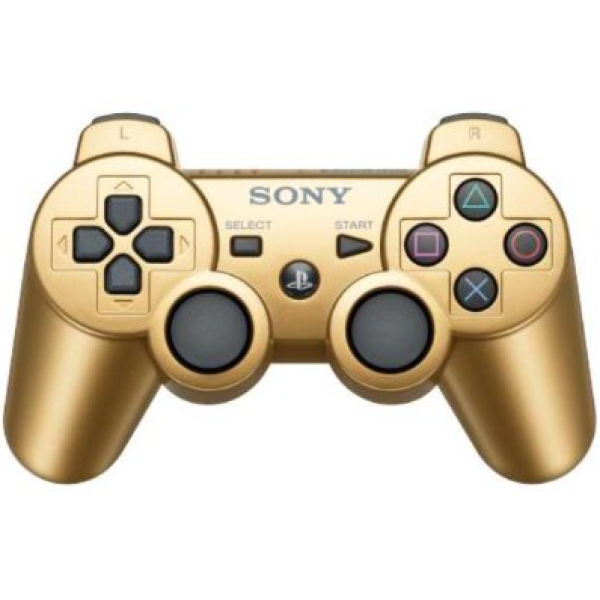 Dual Shock 3 Ps3 Controller Gold Games Accessories Zavvi