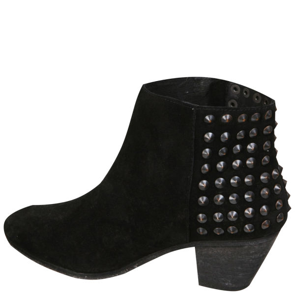 Ash Women s Nevada Studded Heeled Suede Ankle Boots - Black  Image 2 1a98b0a499
