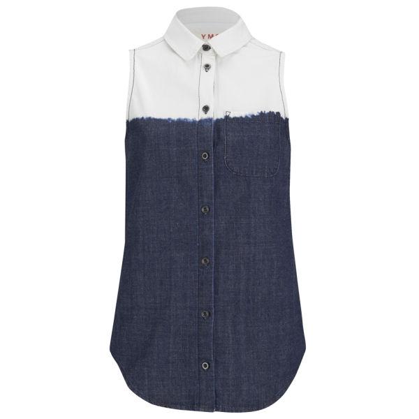 YMC Women's Dip Dye Denim Shirt - Indigo