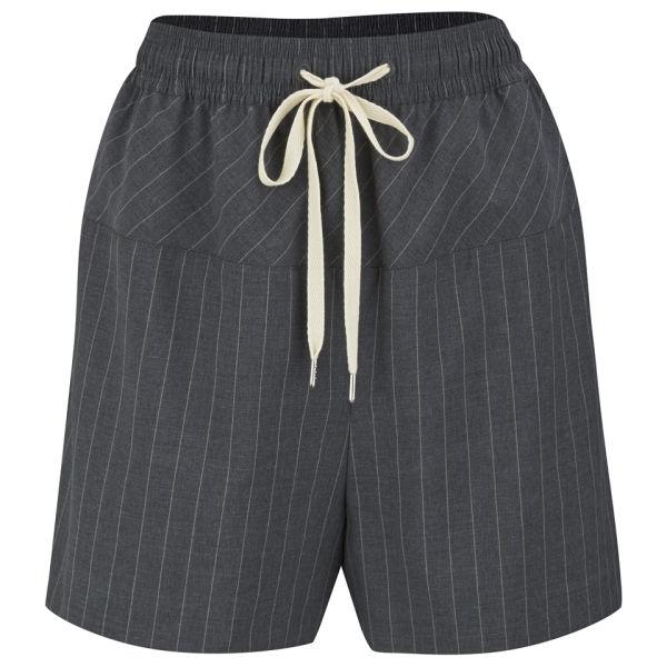 Alexander Wang Women's Pinstripe Boxer Shorts - Charcoal 010