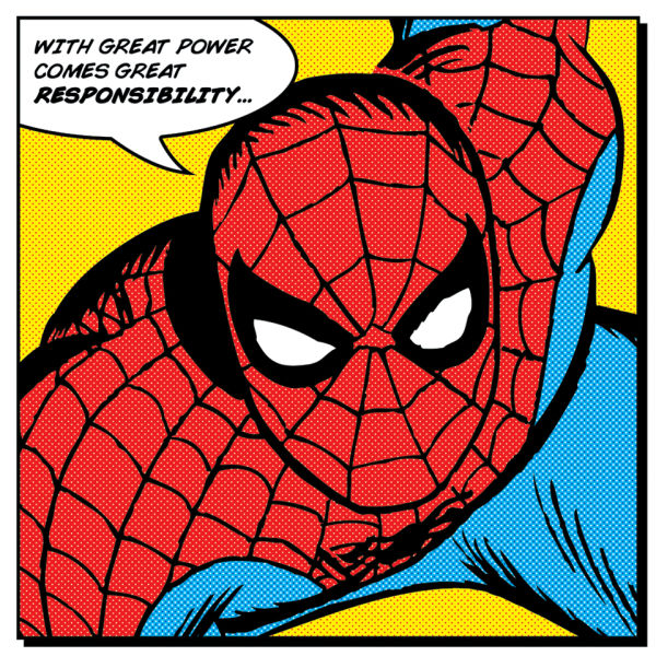 Spider-Man Quote Canvas (40x40)