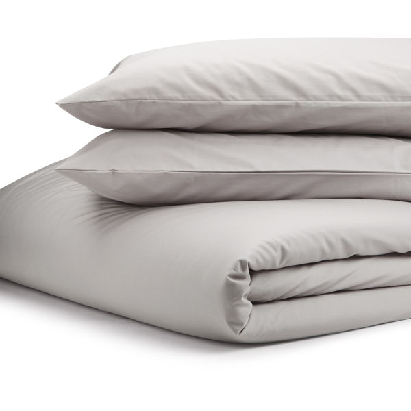 Highams 100% Egyptian Cotton Plain Dyed Duvet Cover and Pillowcases - Portobello