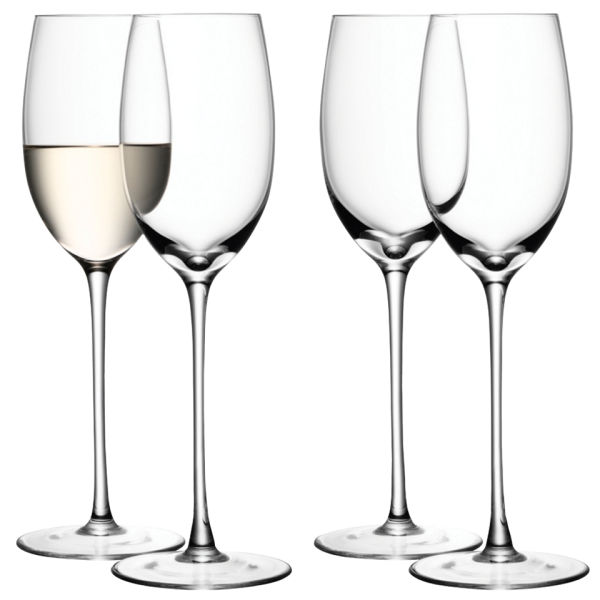 LSA Wine White Wine Glasses - Clear - Set of 4