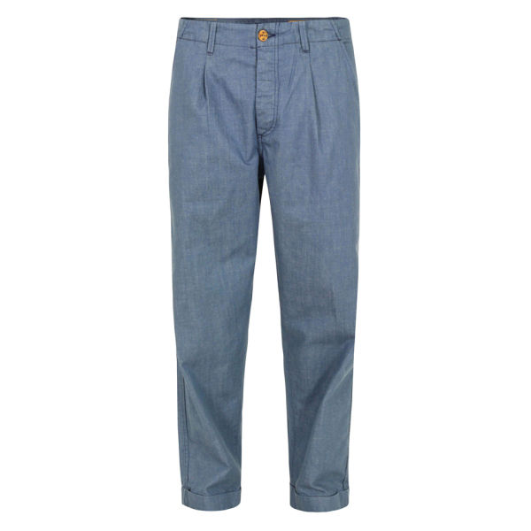 Levi 39 s made crafted men 39 s 59106 pleated chinos indigo for Levis made and crafted spoke chino