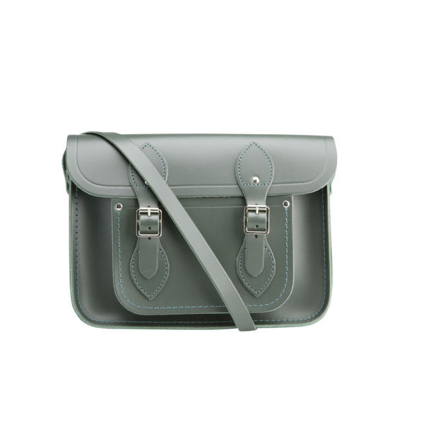 The Cambridge Satchel Company 11 Inch Classic Leather Satchel - Dark Olive