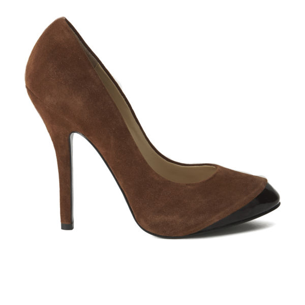 Vivienne Westwood Women's Holly Suede/Patent Leather Heeled Shoes - Brown