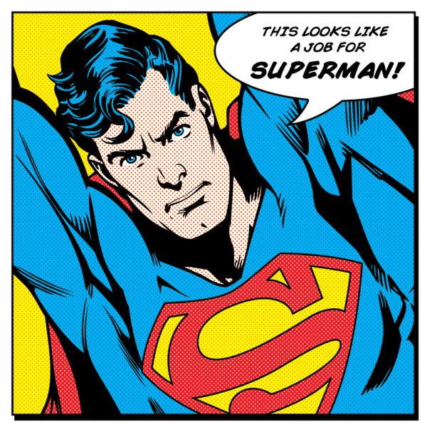 Superman Quote Canvas (40x40)