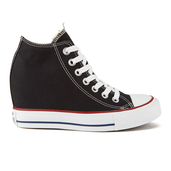 22c36479427b80 Converse Women s Chuck Taylor All Star Lux Hidden Wedge Canvas Trainers -  Black  Image 1
